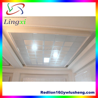 LXG1109 Interior Decoration 60*60cm Artistic Pattern Clip-in Livin Room metal ceiling joists