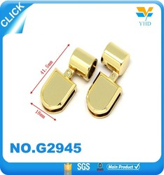 custom fahsion bag accessories metal parts for handbag handle