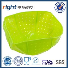 Collapsible Silicone Steamer Strainer silicone filters cooking strainer Silicone mat strainer