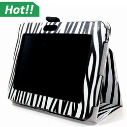 Zebra design smart leather case for Amazon Kindle Fire HD stand cover