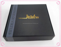 New design best price with gold hot stamping black corrugated paper box