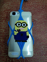 Popular Series silicone cartoon bumper smart phone case with lanyard