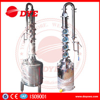 100L between 21 to 50 sets Hot sale ss304 micro alcohol moonshine distillery equipment for sale