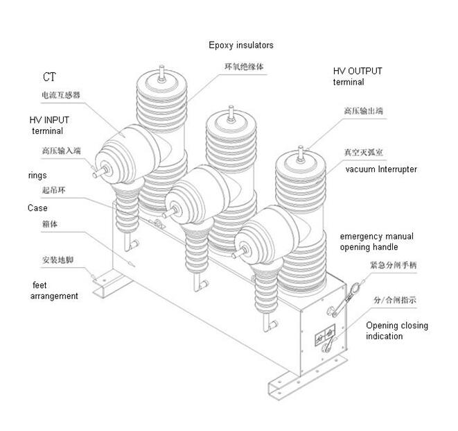 medium voltage outdoor ac sf6 11kv 24kv 33kv circuit