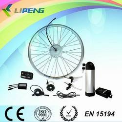 DIY E-bike kit! BLDC front drive geared brushless 36V 250W Electric bicycle hub motor kit with Li-ion battery and LCD display