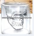 Vodka 750ml cráneo de cristal de la botella con corcho/cráneo botella/pintura de la mano del cráneo de la botella de vidrio