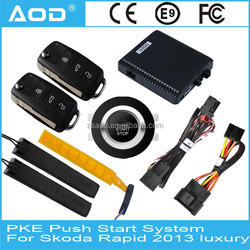 PKE remote start for Skoda Rapid 2013 high equipped