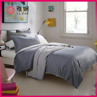 Silver grey and beige Reversible 100% cotton comforter bedding set