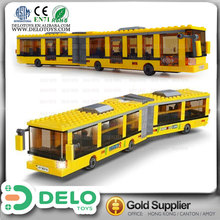 china top selling products educational product plastic building blocks toy bus DE0195231