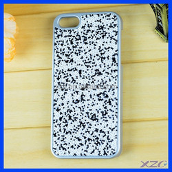 Grey Color PC Mobile Phone Cover for iPhone 5 Leather Sticker Case,cell phone case for mobile phone accessory