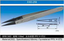 High precision Stainless steel ESD tweezers with Changeable tips