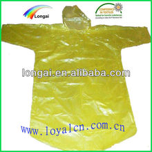 Adult PE disposable rain coat
