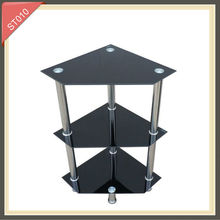 modern design pictures for living silkscreen printing luxury glass and chrome side table