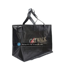 Hot sell pictures printing black pp non woven laminated shopping bag