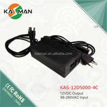 4 Ch 5W 5V European plug ac switching power adaptor&adapter&power supply With FCC Certificates