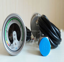 methylsilicone oil and Certification electric contact pressure gauge in China High Stability stainless steel 63mm SF6 manometer