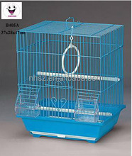 middle size square stainless steel Bird Cage pure color Parrot Cage