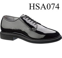 LB, civil servant high quality anti-shrink shining patent oxford police shoes