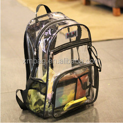 2015 New products outdoor waterproof travel bicycle Clear PVC backpack, Camping hiking backpack