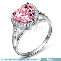 high polish zircon love value 925 silver ring, silver wedding ring wholesale