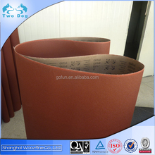 Very competitive price Brown-red electro coated emery cloth sanding belt K16 for wood, steel, Aluminum alloy