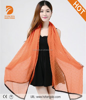 Solid color beach scarf 100%Polyester scarf shawl