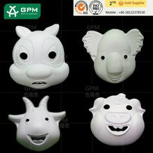 Blanco blanco artesanía máscaras decoraciones máscaras del partido