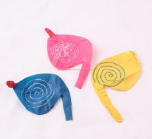 promotion gift swirling balloon random whistle rotating kids toy