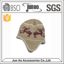 Custom Patch Cap Hat Long Acrylic Beanie Knit Hat Winter Hat
