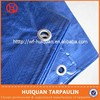 Blue PE coated tarpaulin fabric with UV resistant and waterproof