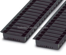 Black socket terminal block with side wall patch installation 3.81mm pitch