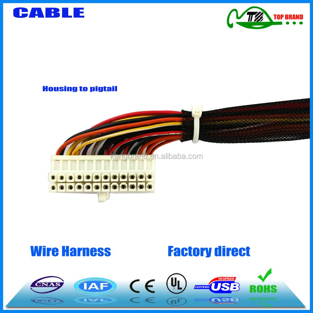 China Manufacturer Custom Twisted Cable Wire Harness Assemblies For Industrial Electronic Wiring 5