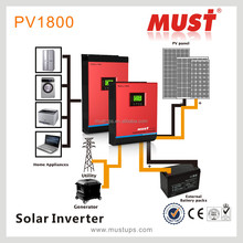 LCD high frequency solar inverter 1KVA 2KVA 3KVA 4KVA 5KVA inside MPPT solar controller 60A, AC charger 60A