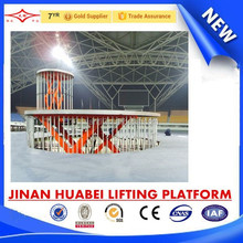 big promotion swing stage, hydraulic rotation stage