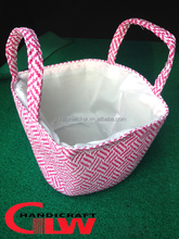 Foldable fabric shopping basket,convenient hanging shopping bag