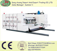 Economic automatic feeding printer uith slotter&rotary-die cutter machine/corrugated cardboard boxmaker