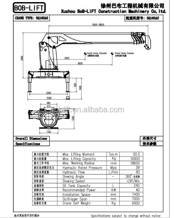 Telescopic Crane Components : Ton telescopic boom truck mounted crane electric chain