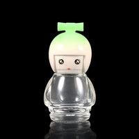 wholesale lovely animal design 10ml nail polish bottle bear shape glass nail empty bottle 9ml with cartoon cap
