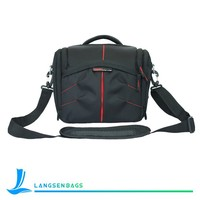 2015 fashion nylon shoulder bags, camera black nylon bag single shoulder bag