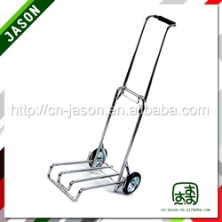 Best sale Pooyo chrome plated hand luggage trolley 65ZD