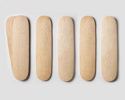 canadian maple wood skateboards/hard rock maple skateboard deck/White Maple veneer face fancy commercial plywood