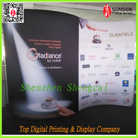Shenzhen high quality clothing displays trade shows,tension fabric display