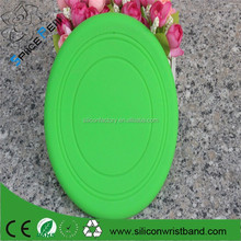 Promotion 2015 custom dog tool training tool products Pet dog New soft Silicone Frisbee for dog