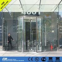 revolving door with security glass