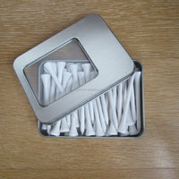 45 wooden golf tees in one tin box for company cheap giveaway
