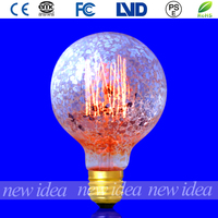 tungsten filament bulb, color light bulb G80 25W/40W/60W