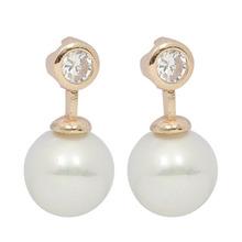 Fashion White Pearl Zircon Jewellery Earrings