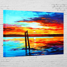 Handmade impressionism sea oil paintings