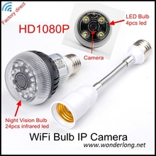 Nova chegada Venda Quente Home DV WiFi Bulb P2P IP Network Camera