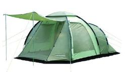 Hot 4 person fiberglass waterproof single layer family awning tent camping